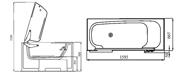 kibomed calibur liegewanne rollstuhlgerecht top seller. Black Bedroom Furniture Sets. Home Design Ideas
