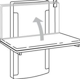 pressalit care wickeltisch r8671000 verstellbar bis bodenn he hochklappbar 900 mm 75 kg last. Black Bedroom Furniture Sets. Home Design Ideas