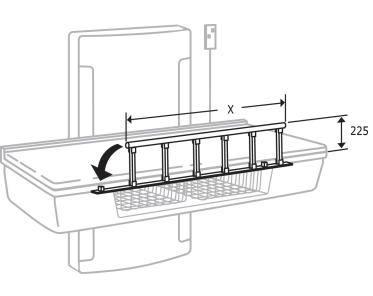 pressalit care wickeltisch rb1921000 seitengitter f r wickeltische 900 1400 mm. Black Bedroom Furniture Sets. Home Design Ideas