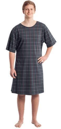 2242f27290 Suprima 4079 Pflegehemd Herren Halbarm, 100 % BW, Pyjama, Patientenhemd,  versch. Farben u Grösse