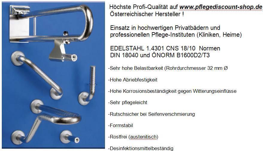 Haltegriffe Dusche Bad : Haltegriffe Bad Chrom-Nickel-Stahlrohr, GRIP, hochwertig