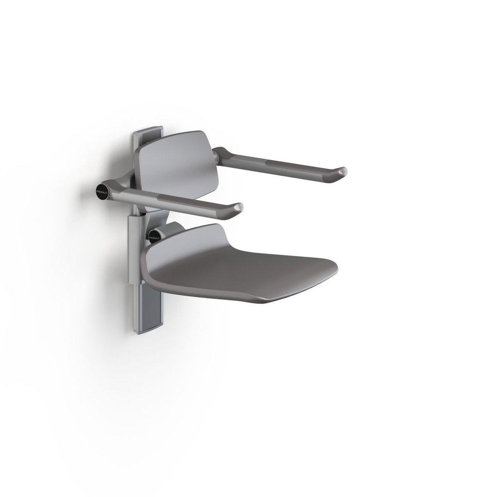 Pressalit care r7430112 plus duschsitz 450 mit armlehne for Stuhl 200kg belastbar