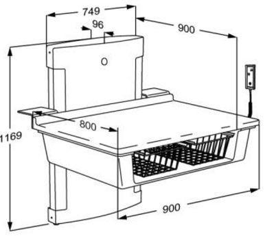 pressalit care wickeltisch r8661000 elektr verstellbar bis bodenn he 900 mm 75 kg last. Black Bedroom Furniture Sets. Home Design Ideas