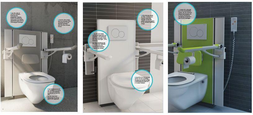 pressalit care select r8017112 wc lifter inkl 700 mm. Black Bedroom Furniture Sets. Home Design Ideas