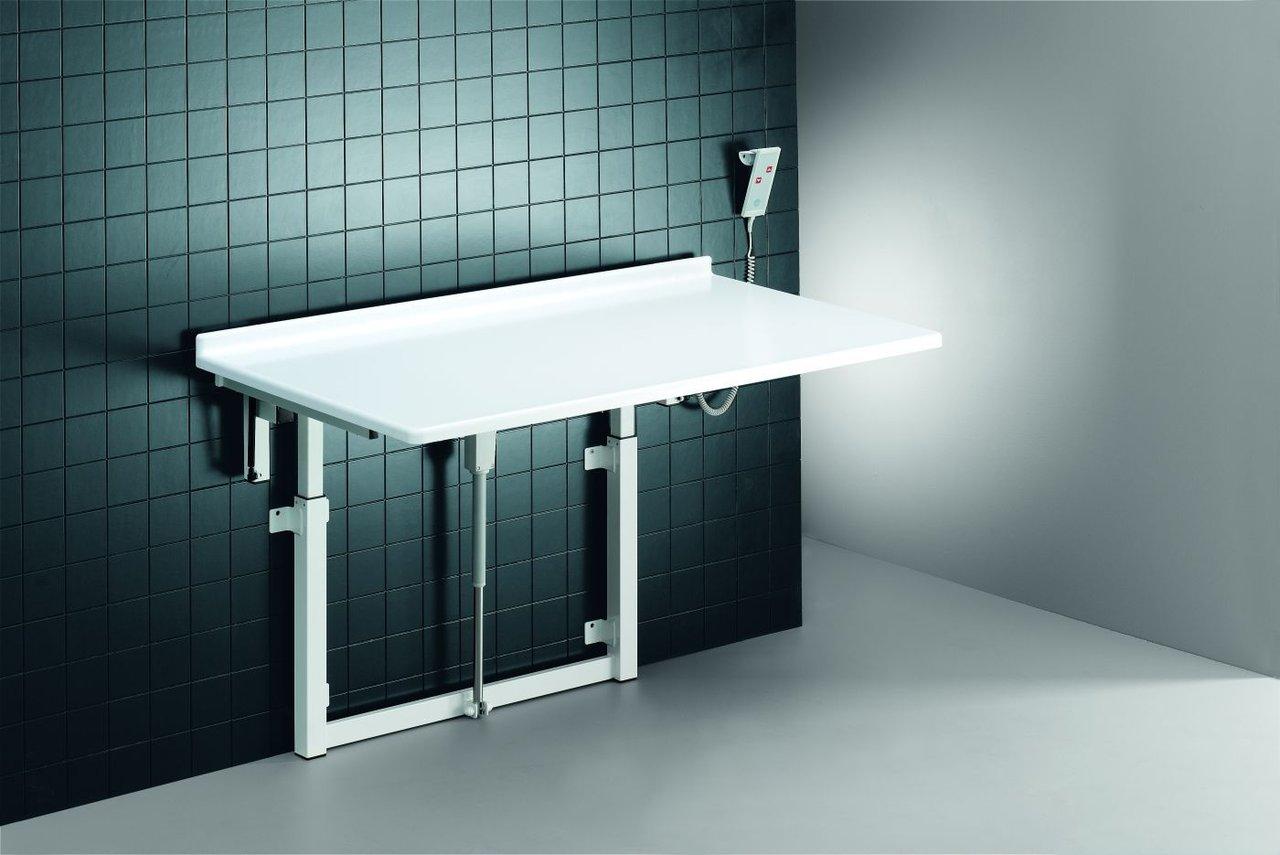 pressalit care wickeltisch r8722000 wandh ngend hochklappbar h henverstellb 1400 mm 75 kg last. Black Bedroom Furniture Sets. Home Design Ideas