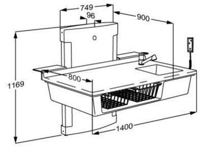 pressalit care wickeltisch r8682000 waschbecken. Black Bedroom Furniture Sets. Home Design Ideas