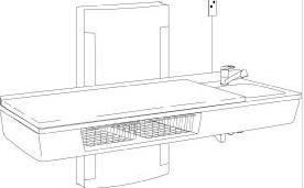 pressalit care wickeltisch r8683000 waschbecken handbrause bis bodenn he 1800 mm 75 kg last. Black Bedroom Furniture Sets. Home Design Ideas