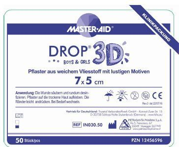 DROP 3D Boys & Girls Kinder Wundverband 5 x 7 cm,  bunt bedruckt, PZN 12456596