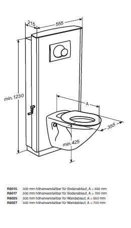 pressalit care select r8015112 wc lifter inkl 540 mm wand. Black Bedroom Furniture Sets. Home Design Ideas