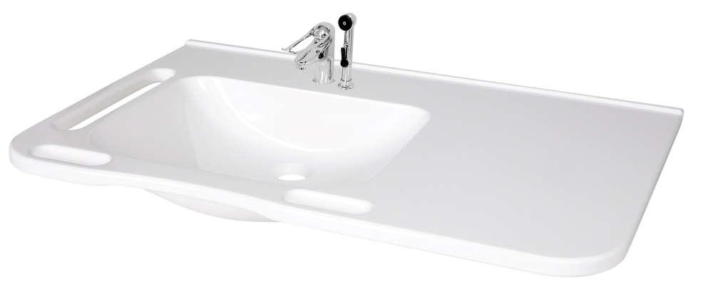 Behindertengerechtes Waschbecken.Kibomed Gtm802 Behindertengerechtes Waschbecken Senioren Mit Ablagefläche 845x555 Mm Mit überlauf