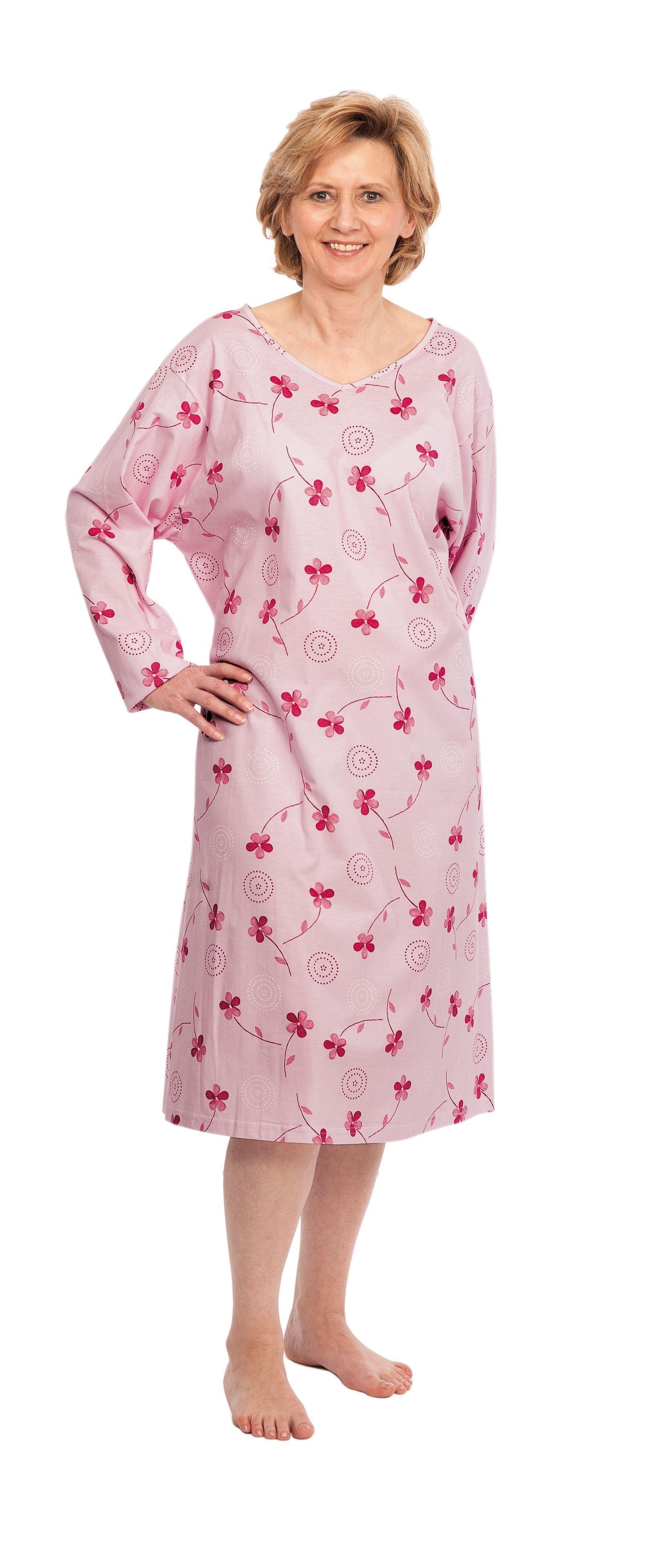 95bcfec09e Suprima 4079 Pflegehemd Herren Halbarm, 100 % BW, Pyjama ...
